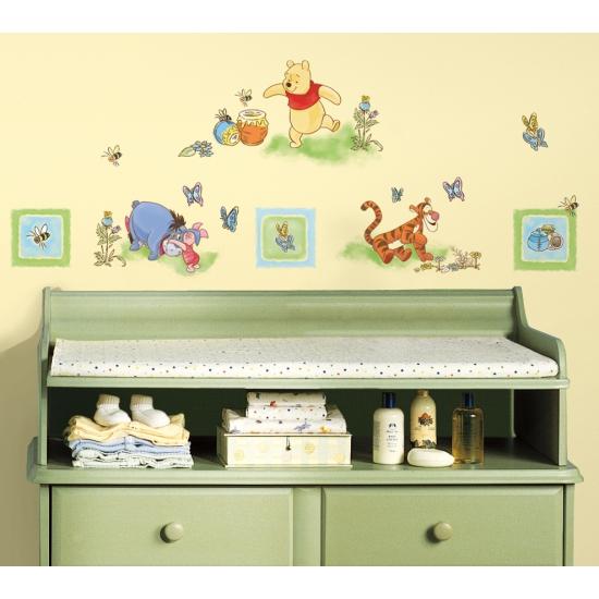 Muurstickers Winnie The Pooh Zwart Wit.Winnie De Poeh Gekleurde Muur Stickers Online Bestellen In De Thermo